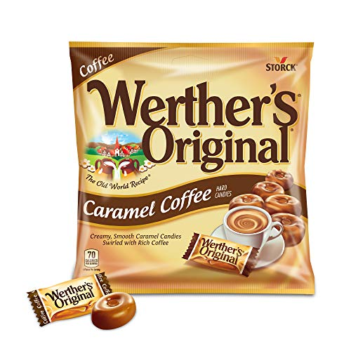 WERTHER'S ORIGINAL Caramel Coffee Hard Candy, Individually Wrapped Candy, 5.5 Ounce Bag (Pack of 12)