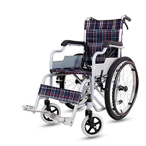 Ergonomischer Rollstuhl leichtes 14kg Faltbarer Transport medizinisch Bequeme Armlehne Rückenlehne Sitz Schaukel Beinauflage 100kg Lastaufnahme 38 * 40cm Sitz,B