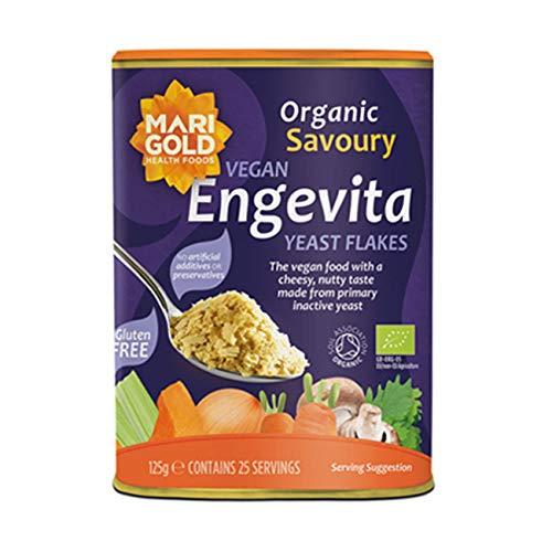 Caléndula Engevita orgánica de levadura nutricional, 125 g (paquete de 3)