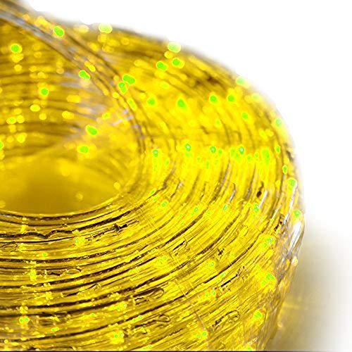 SEIKOH イルミネーションロープライト 50m 黄 LED 1500球 防水 防雨 点灯 点滅 連結 IRMRY050