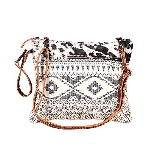 Myra Bag S-1932 Umhängetasche aus Segeltuch, Teppich und Leder