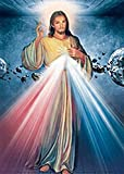 Those Flipping Pictures 3D Posters and Lenticular (3 Images in 1) Wall Art Optical Illusion Images and Holographic Pictures (Jesus & Angel-3 in 1)