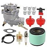 Allong Carburetor Air Filter Fuel Hose Shut Off Valve for 390323 394228 299169 7 8 9 HP Horizontal Engine Motor Generator Tiller Mower Carb Toro 293950 394514