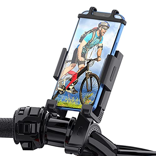 WOHOOH Handyhalterung Fahrrad, 2021 Motorrad Handyhalter - Universal 360° Drehung Outdoor Fahrrad Halter für iPhone 6,6S,7,8,X,XR,Xs Max,11 Pro Max,12 Mini,12 Pro Max,Samsung S10 S9 S8, Smartphone
