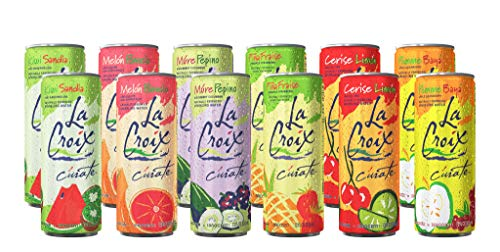 La Croix Sparkling Water - All Flavor Variety Pack, (Sampler), 12 Oz Cans, Flavored Seltzer Drinking Water Beverage Naturally Essenced (12 Slim Cans)