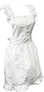 Retro White Cosplay Kitchen Maid Apron White Maid Apron
