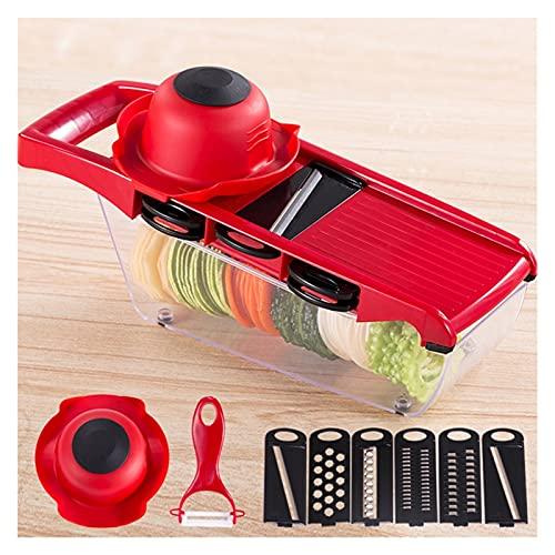 ZQALOVE ZHANGQINGAN Multifunción Vegetal rebanadora con Cortador de Vegetales Accesorios de Cocina Herramienta Patata Peeler Zarrot Grinder Queso requerimientos (Color : Model 2)