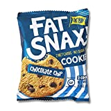 Fat Snax Cookies - Low Carb, Keto, and Sugar Free (Chocolate Chip, 6-pack (12 cookies)) -...