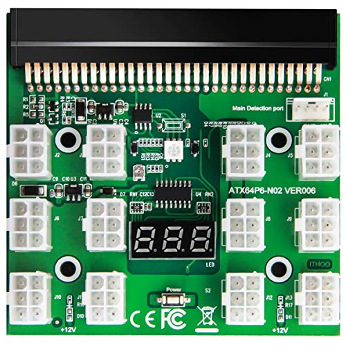WESTLIN BTC ETH ZEC Mining GPU/PSU Power Supply Breakout Board Adapter 12V for DPS1200FB DPS1200QB PS27515Q HSTSNPL12 DPS700LB PS21125L DPS750RB DL580 Series Support Up to 1600W