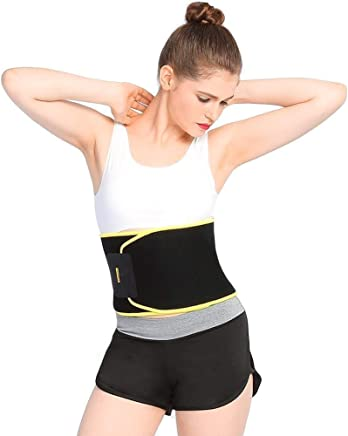 Shadow Securitronics Sweet Sweat Waist Shaper Trimmer Slimming Belt - Pink and Yellow