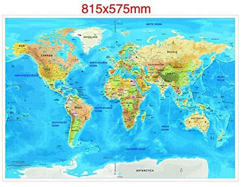 KURAZL Postkarte Welt Scratch-Karte, abkratzen Reisekarte, Karte der Scratch-Welt In Grundlegenden Informationen über die Reisen und Abenteuer,4