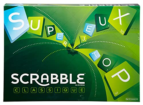 Mattel Games - Scrabble Classique, Jeu de Société et de Lett