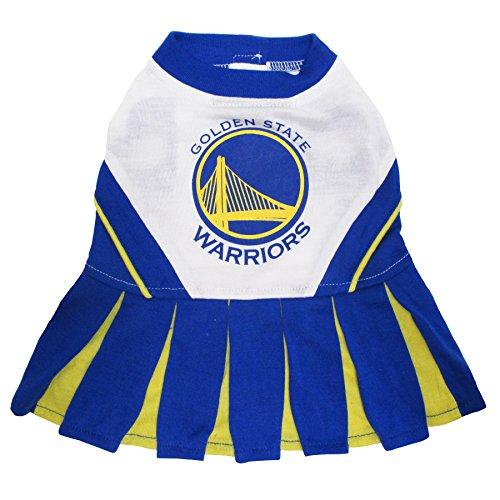 Pets First NBA Golden State Warriors Dog Cheerleader Dress, Medium