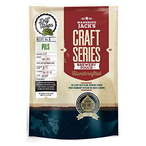Mangrove Jack's Craft Series Pils Kit de cerveza con lúpulo seco – 2,5 kg