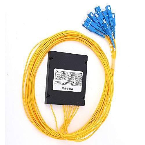 PLC Pigtail Splitter, 1x8 Single-mode PLC Splitter SC UPC Fiber Splitter para cableado doméstico LAN de fibra óptica