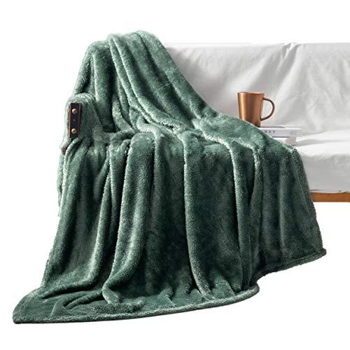 Exclusivo Mezcla Plush Fuzzy Large Fleece Throw Blanket (...