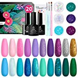 Beetles Mermaid Mantra 20 Colours Gel Nail Polish Kit, Soak Off UV Gel