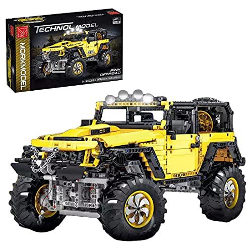 Likecom Juego de construcción de ingeniería de coche, todoterreno, escala 1:8, modelo exclusivo de coleccionista, 2452 piezas, bloques de sujeción, compatible con Lego Technic