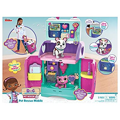 Doc McStuffins 92446 Baby All in One Nursery Pet Rescue Mobile, Multicolor by Just Play - Import