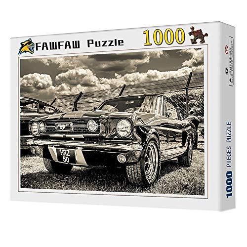 FAWFAW Rompecabezas Niños Y Adultos,1000 Piezas, Coche Deportivo Clásico Brain Challenge Jigsaw Puzzle Games