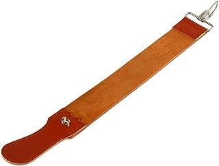 Leather Strop, Asixx Genuine Leather Strop Shaving Strop Sharpener Strap Barber Straight Razor Knife Sharpening Belt for S...