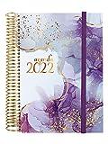 Finocam - Agenda 2022 Diaria de Enero 2022 a Diciembre 2022 (12 meses) E10 - 155x212 mm Espiral Design Collection Goldy...