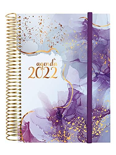 Finocam - Agenda 2022 Diaria de Enero 2022 a Diciembre 2022 (12 meses) E10 - 155x212 mm Espiral Design Collection Goldy Internacional