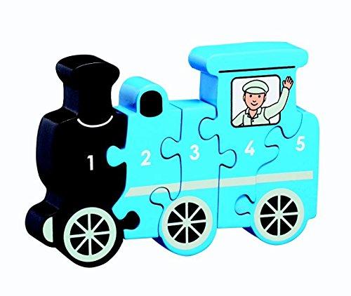 Houten puzzel Trein - Leren tellen 1-5