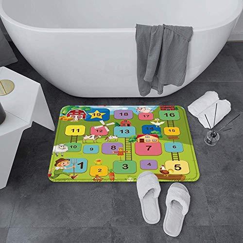 Super Soft Bath Frips Floor Mat, Decoración de la playa, Gorilla Wave Rider Surfing Theme Grunge Grunge Verano Sea SP, Agua Absorbent Bath Mat Dormitorio antideslizante, Alfombra Adecuada para Baños /