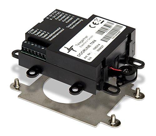 DoorLine TM4 Schwarz, Türsprechanlage, Klingel für den Briefkasten, Türöffner anschließbar, Haustelefon und Handy als Gegensprechanlage, Anschluss a/b 2-Draht