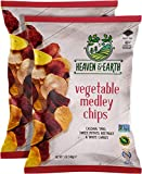 Heaven & Earth Veggie Chips, Vegetable Medley chips, 5oz (2 Pack) Gluten Free, Non GMO