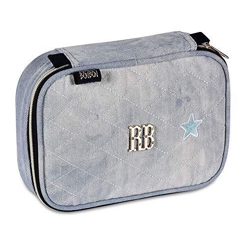 Estojo Porta Lápis Rebecca Bonbon Jeans Escolar Juvenil 100Pens - RB2056 - Azul Claro