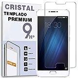 REY Protector de Pantalla para MEIZU U20 5.5', Cristal Vidrio Templado Premium