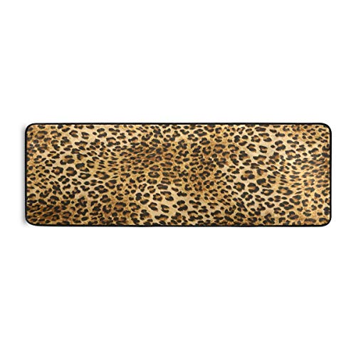 BEETTY Runner Rug Leopard Print Non Slip Area Long Rug Hallway Entry Living Room Modern Carpet (2'x6')