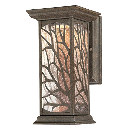 Westinghouse Lighting 6312000 Glenwillow One-Light LED, Victorian Bronze Finish with Clear Seeded Glass Outdoor Wall Fixture