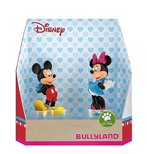 Bullyland 15077 - Spielfigurenset, Walt Disney Mickey Valentine - Mickey und Minnie, liebevoll handbemalte Figuren, PVC-frei, tolles Geschenk für Jungen und Mädchen zum fantasievollen Spielen