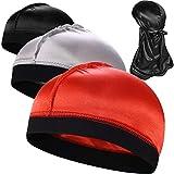 3PCS Silky Stocking Wave Caps, Compression Cap for Men Doo Rag, Award 1 Durag,F