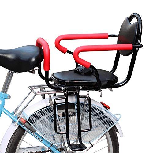 JTYX Fiets Kinderzitje Achteraan met Stoelgordel Verdikking Vier Seizoenen Universele Babystoel Geschikt voor Fiets Vouwfiets Mountainbike