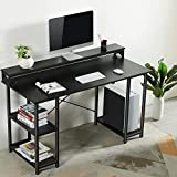 Sedeta Computer Desk with Storage Shelves and Hutch, 55 inch Office Desk with Monitor Shelf, Large Modern Computer...