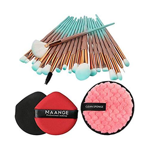 Posional Pinceau Maquillage Cosmétique Professionnel, Lot de 20PCS Correcteur Ombres Soyeux et Denses Pinceaux Maquillage Yeux pour Visage Blush Lip Shadow Eyeliner Foundation
