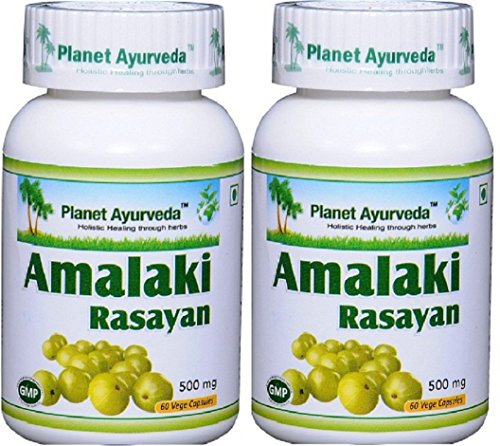 Planet Ayurveda Amalaki Capsules| Organic Amla Supplement- Supports Digestion, Eye, Heart & Skin Health| Maintains A Healthy Immune System | 100% Natural GMP Certified 60 Veg Capsules | Pack of 2