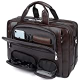 YOGCI Mens Leather Briefcase for...