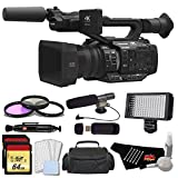 Panasonic AG-UX180 4K Premium Professional Camcorder with 128GB Memory Card, Filter Kit, Professional Microphone, LED Video Light, and Standard Accessories