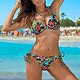 Aiglen Bikinis de verano para mujer, traje de baño Push Up, traje de baño de dos piezas, traje de baño de playa de verano sexy (Color : Color 4, Size : XL code)