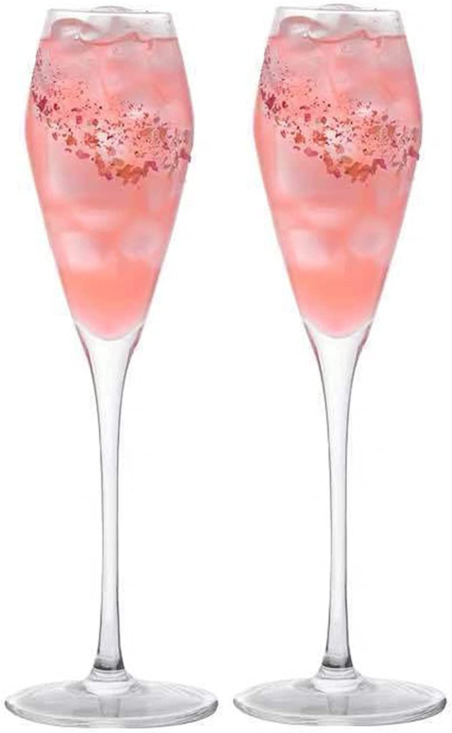 Set of 2 National products Ranking TOP14 Martini Glasses 245 Lead-Free Champagne Glas Ml Crystal