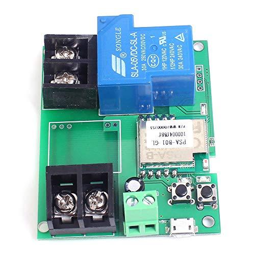 Tablero de relé WI-FI remoto Módulo de relé de control de 5V 30A de alta potencia de 6000W Teléfono aplicación de control remoto del interruptor de control de temporizador for el hogar inteligente Par
