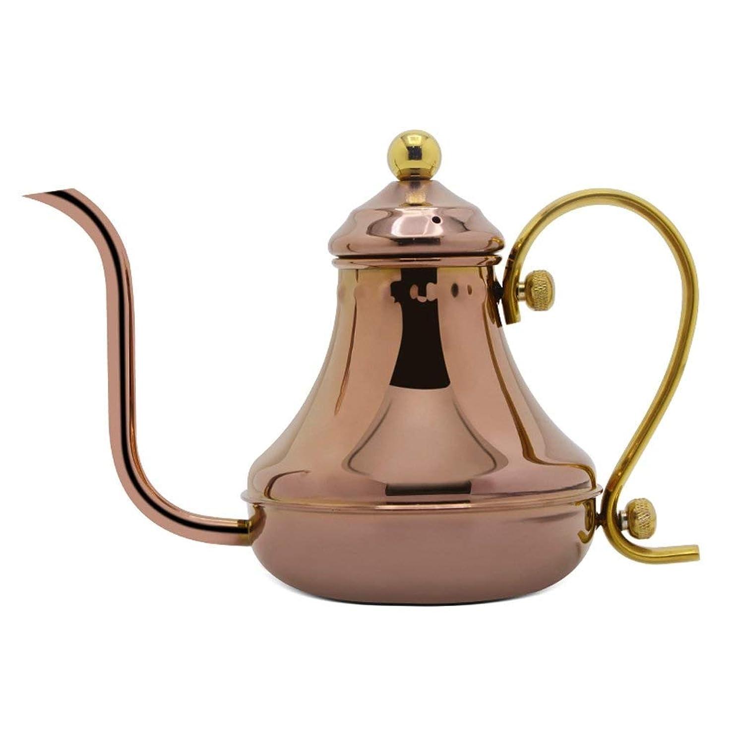 衣類ロードブロッキング知事LWT コーヒーやかんステンレス鋼手ドリップやかんコーヒーとティーポット420ML(銅)