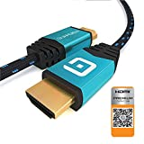 GUARDIEN Câble HDMI 4K 3m - Certifié Premium - Ultra HD 2160p, Full HD 1080p, 3D, Arc, Ethernet -...