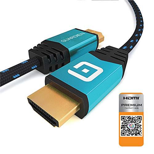 Guardien Câble HDMI 4K 7.5m - Certifié Premium -...