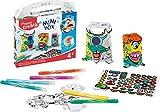 Maped Creativ - Mini Box Activités Manuelles Enfants - Kit de 3 Monstres en Papier à Décorer + 6 Feutres + Stickers - Loisirs Créatifs Enfants dès 4 Ans